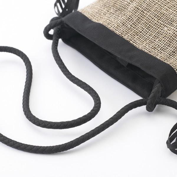 ショルダーバッグ 変わり織り籠目 生成