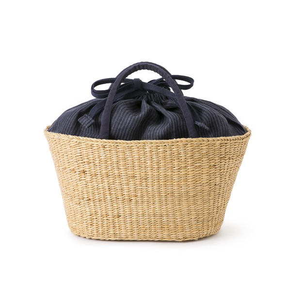 スペック染リネンの籠バッグ