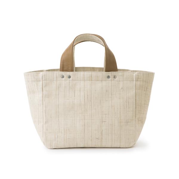 手織り麻のバッグ