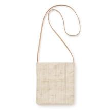 手織り麻のポシェット