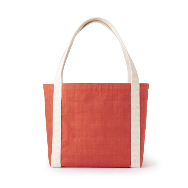 手織り麻のトート大