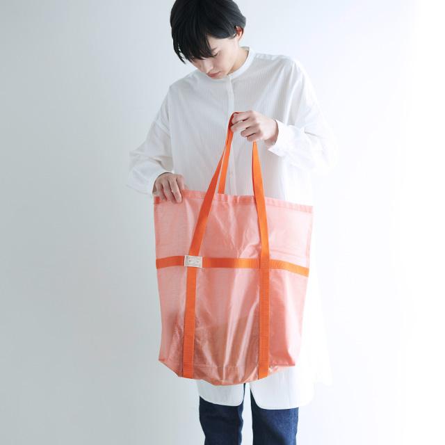 かや織ビニールのトートバッグ