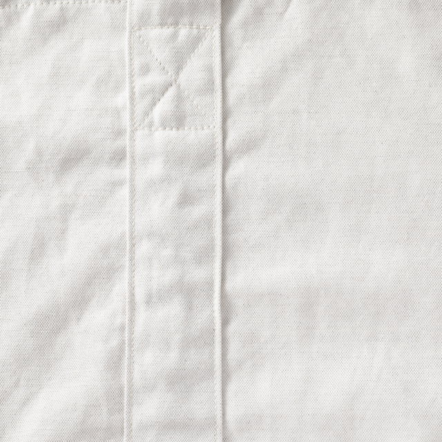 洗える麻のショルダートート 白