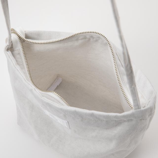 洗える麻のサコッシュ 白