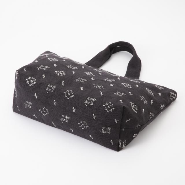 バッグ 絣刺繍