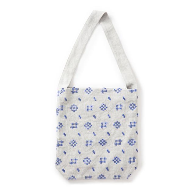 ショルダーバッグ 絣刺繍