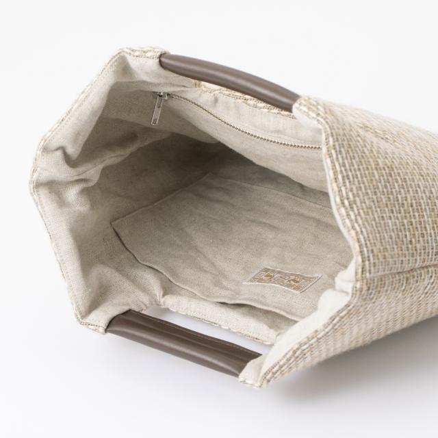 麻の壁紙で作ったトートバッグ