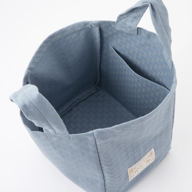 織り刺し子バッグ大 い組