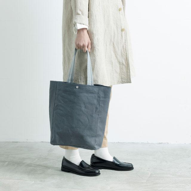 リネン帆布の真田紐トートバッグ大