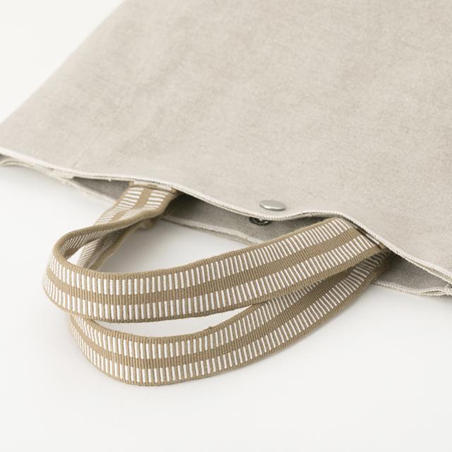 リネン帆布の真田紐トートバッグ小
