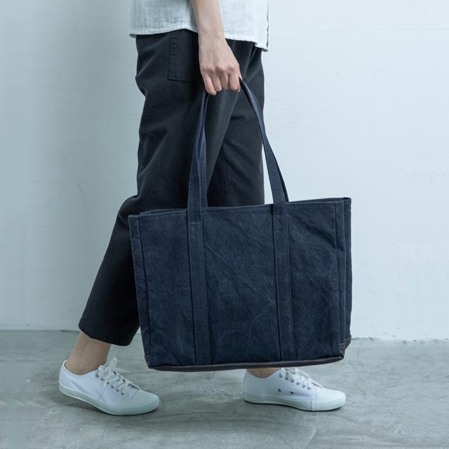 【WEB限定】タイガー帆布で作った動く仕切りのトートバッグ