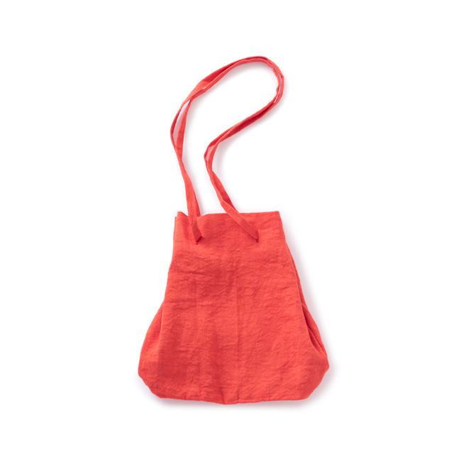 天日干しリネンの巾着バッグ