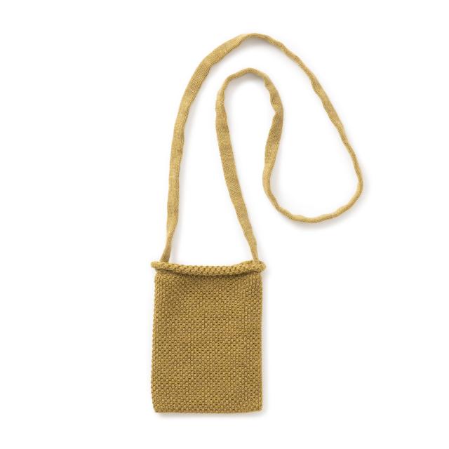 鹿の子編みのポシェット