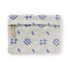 ポーチ 絣刺繍