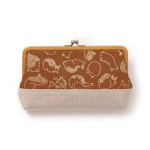 奈良印伝のがま口財布猫づくし