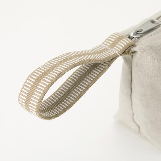 リネン帆布の真田紐ポーチ