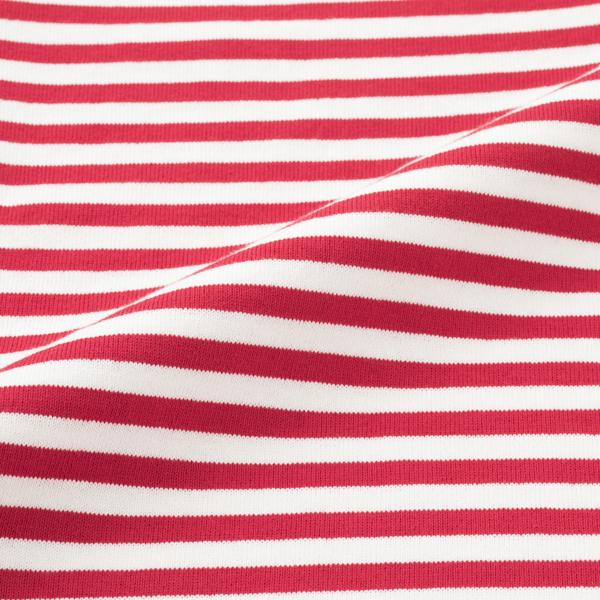 空紡糸のボーダーカットソー