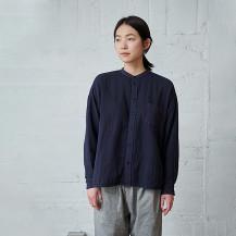 綿麻ガーゼの休日シャツ