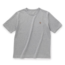 鹿の刺繍Tシャツ メンズ