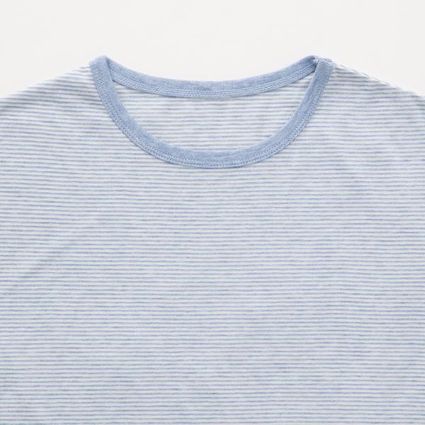 オーガニック綿のボーダーカットソー