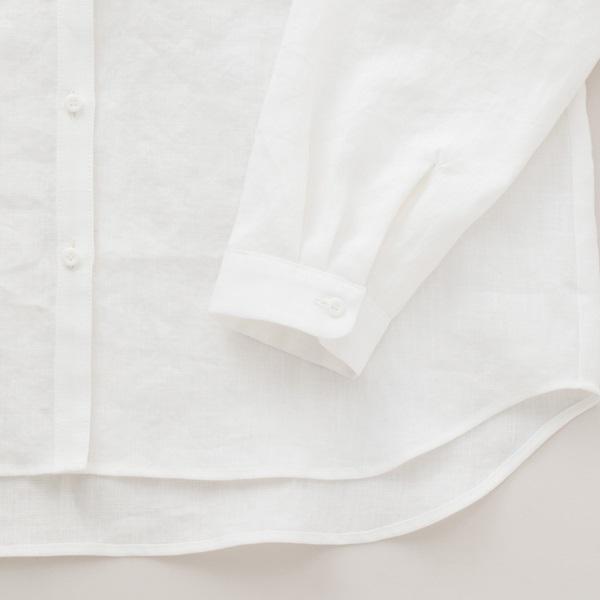手織り麻を使ったシャツ