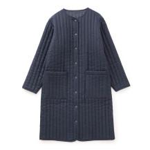 麻の綿入れコート