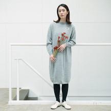 エアリーウールのニットワンピース【会員限定蔵出市対象商品】