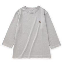 鹿の刺繍Tシャツ 七分袖 メンズ
