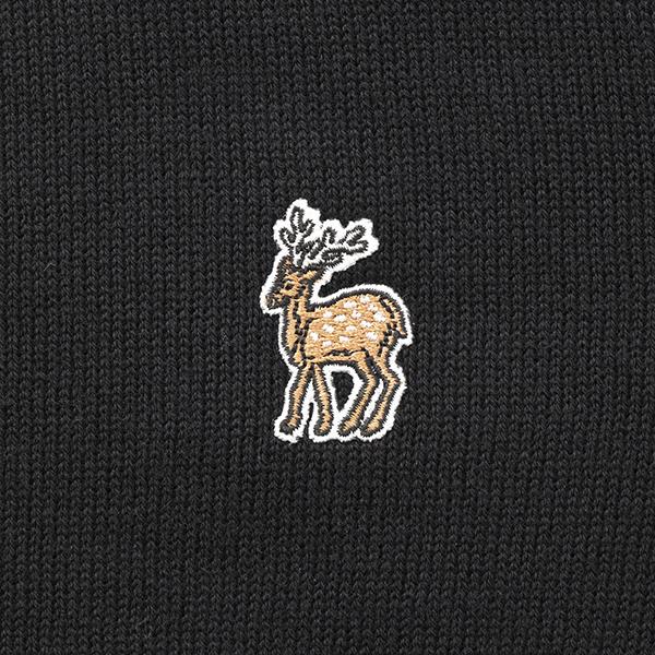 鹿の刺繍カーディガン レディース