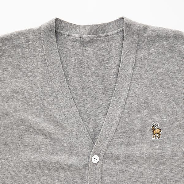 鹿の刺繍カーディガン メンズ