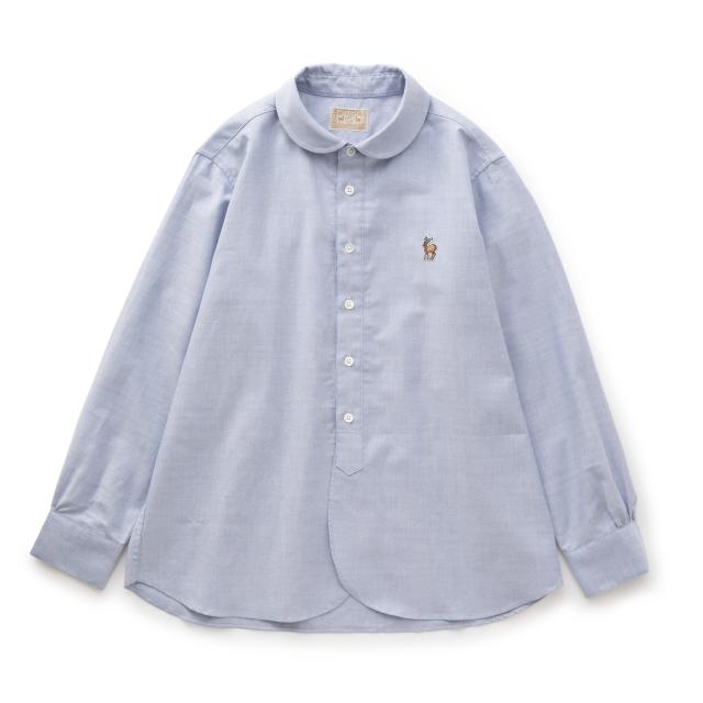 鹿の刺繍シャツ レディース
