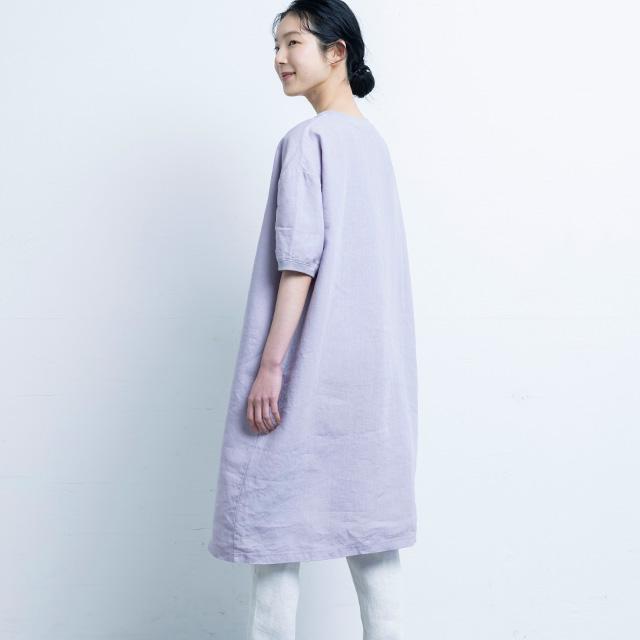 麻布Tシャツワンピース
