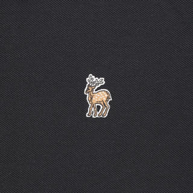 鹿の刺繍ポロシャツ レディース