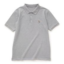 鹿の刺繍ポロシャツ メンズ