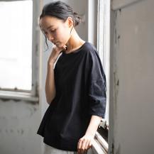 中川政七商店別注 STAMP AND DIARY ビッグTシャツ袖刺繍 candy