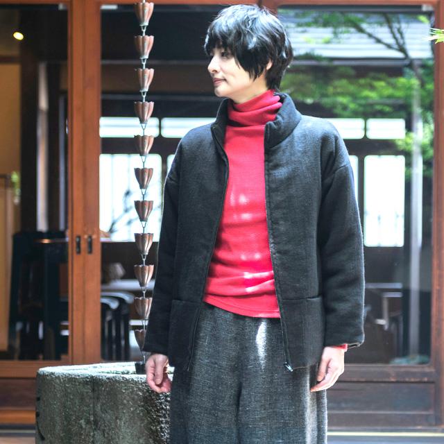 麻ウールのあったか綿入れジャケット