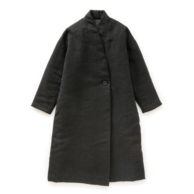 麻ウールのあったか綿入れコート