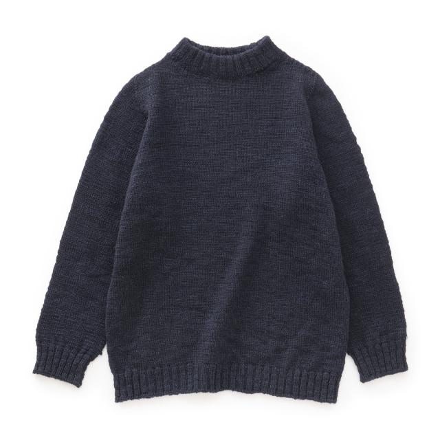 麻わたウールのセーター