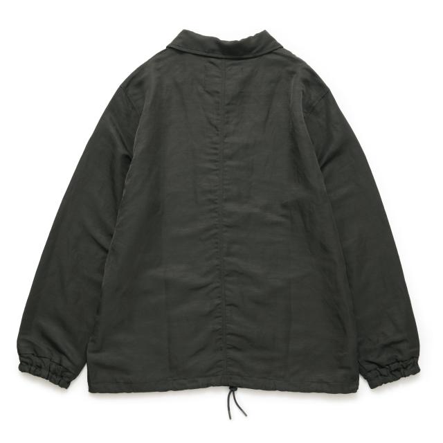 麻ナイロンのコーチジャケット