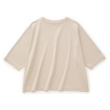強撚綿スムースのプルオーバー 七分袖