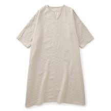 高密度に織った麻のワンピース【夏セール2020】