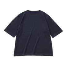 肌で着るコットンカシミヤのニットワイドTシャツ