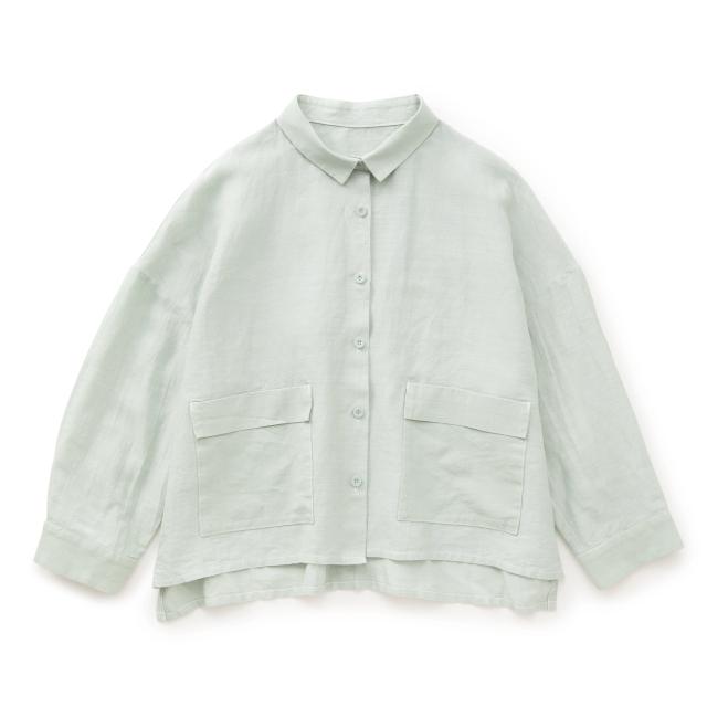 麻と和紙のシャツジャケット