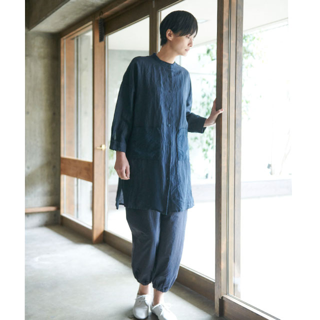 麻と和紙のシャツコート