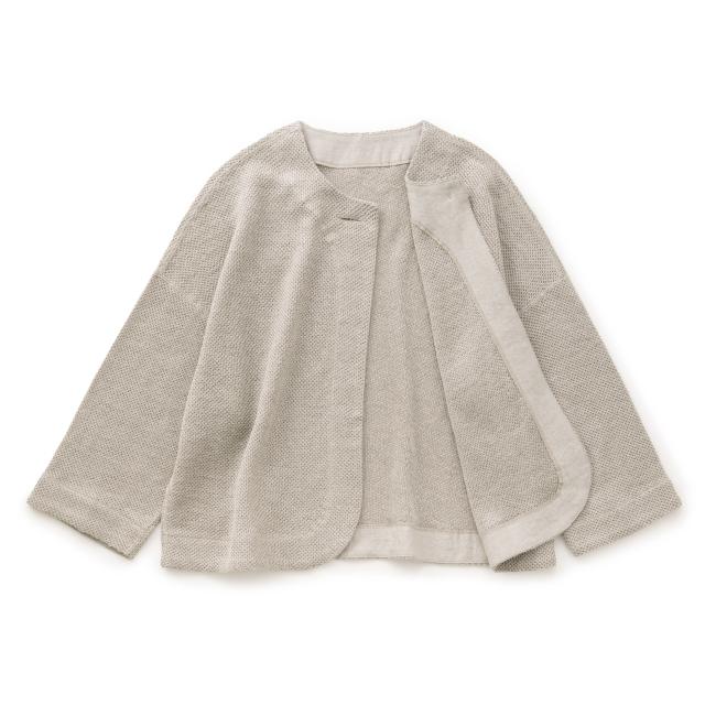 麻ニットのジャケット