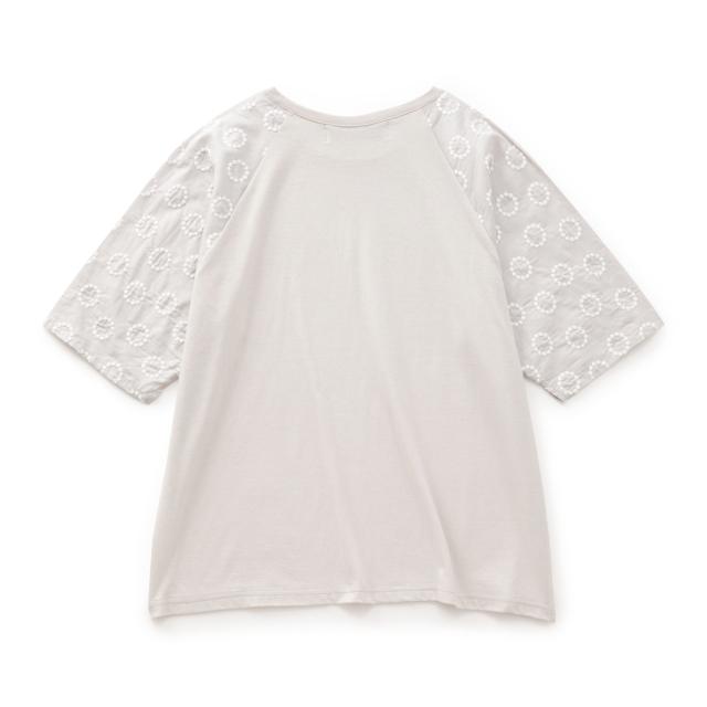 STAMP AND DIARYラグラン袖刺繍Tシャツ ヴォイクッカ