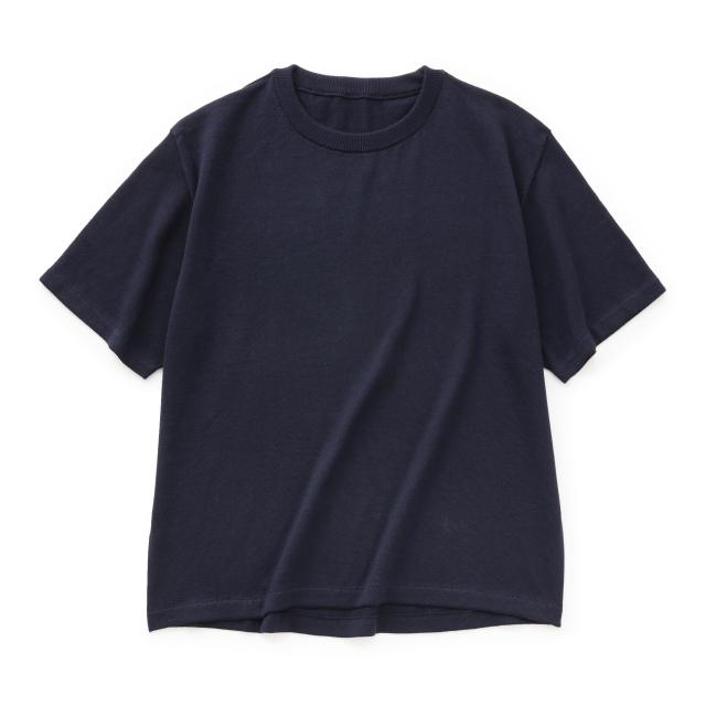 肌で着るコットンカシミヤのニットTシャツ メンズ