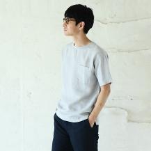 麻布Tシャツ メンズ