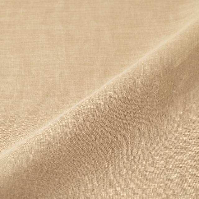 手織り麻を使ったタックブラウス