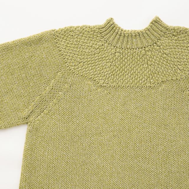麻ウールのニットセーター